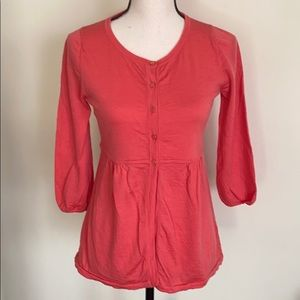 Boden Wool 3/4 Sleeve Tunic Sweater Size 6